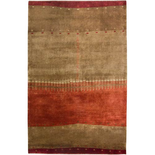 Rizzy Rugs Organza Rectangle: 5 Ft. 6 In. x 8 Ft. 6 In. Brown Rug