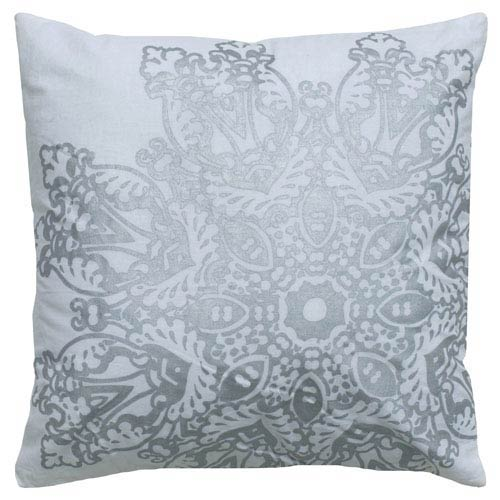 White and Silver 18-Inch Holiday Pillow