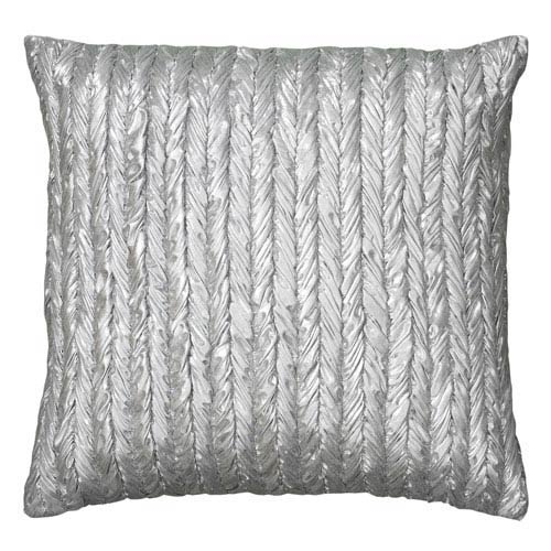 Silver 18-Inch Holiday Pillow