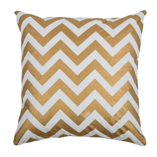 Gold 18-Inch Holiday Pillow