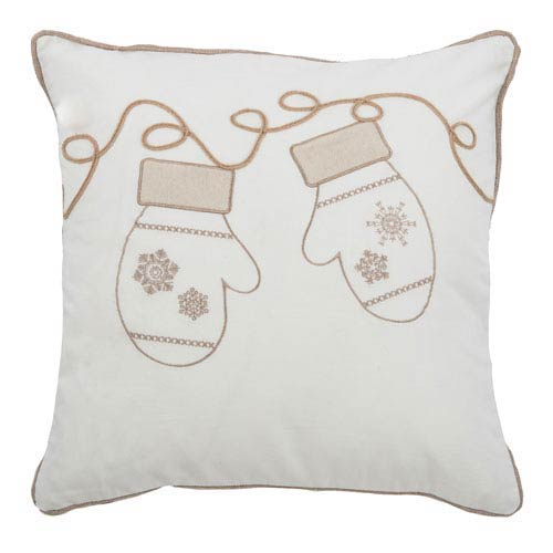 Ivory 20-Inch Holiday Pillow