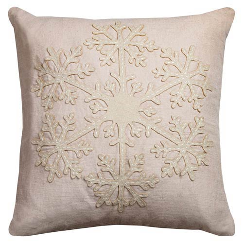 Beige 20-Inch Holiday Pillow