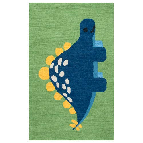 Play Day  Green Rectangular: 3 Ft. x 5 Ft.  Rug