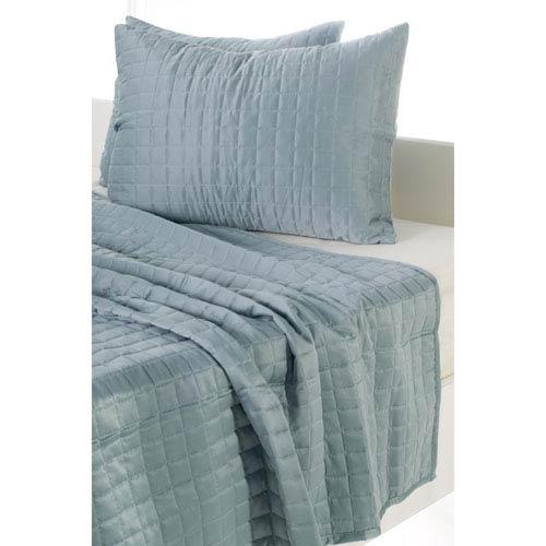 Satinology Blue Three-Piece Queen Quilt Set