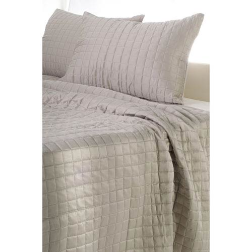 Satinology Moss Three-Piece Queen Quilt Set
