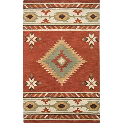 Rizzy Rugs Southwest Rectangle: 5 Ft. x 8 Ft. Navajo Red Rug