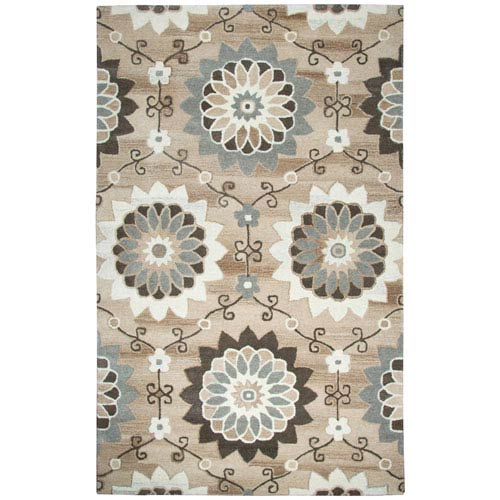 Rizzy Rugs Suffolk Beige Rectangular: 3 Ft. x 5 Ft.  Rug