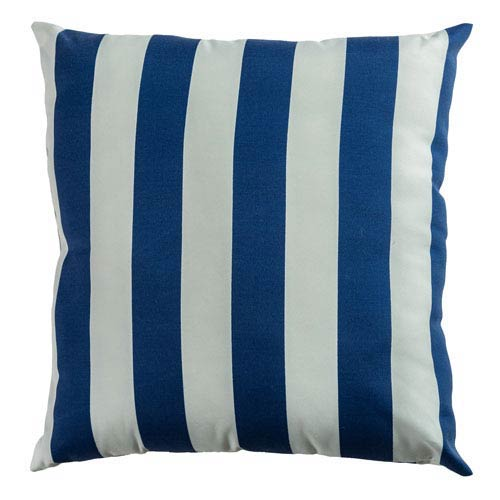 Indoor/Outdoor Indigo 22-Inch Throw Pillow