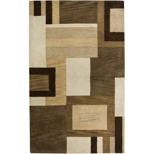 Rizzy Rugs Volare Rectangle: 5 Ft. x 8 Ft. Brown Rug