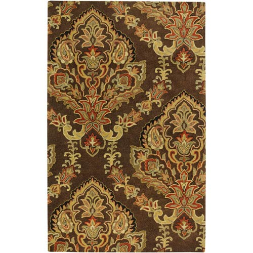 Rizzy Rugs Volare Rectangle: 5 Ft. x 8 Ft. Chocolate Rug