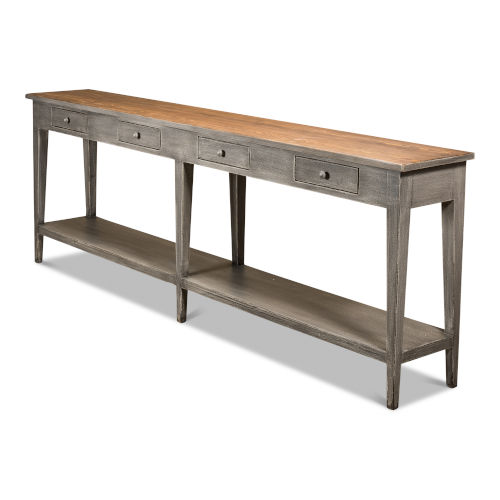 Gray Provincial Hall Table