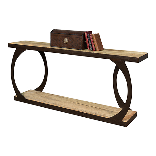 Black 79-Inch Console Table