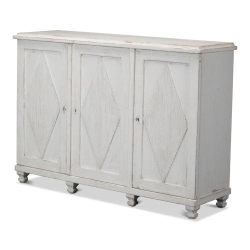 White Beecher Three-Door Sideboard