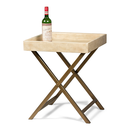 Beige Staunton Tray Table