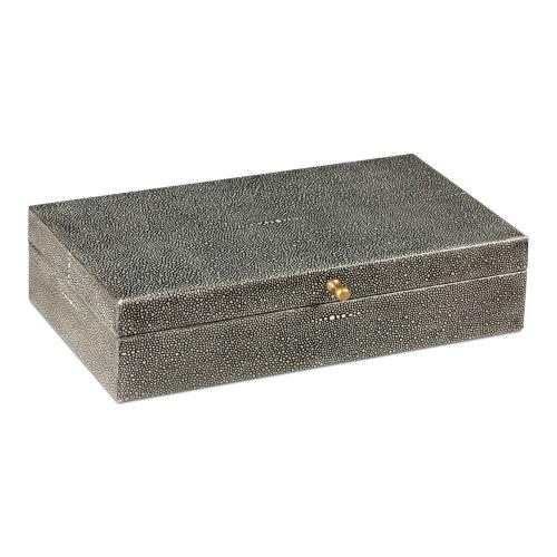 Black Gatsburg Shagreen Box