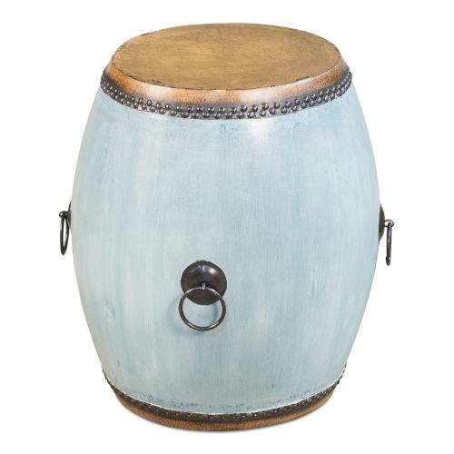 Blue Drum End Table
