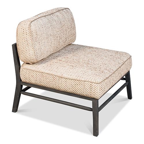 Beige 29-Inch Midcentury Chair