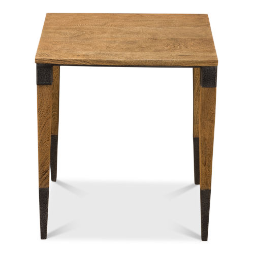 Tan 20-Inch Wheat Field Chairside Table