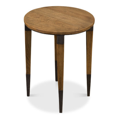 Tan 22-Inch Saber Leg Chairside Table