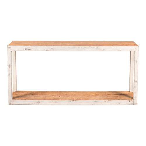 White 14-Inch Vermont Lodge Console Table