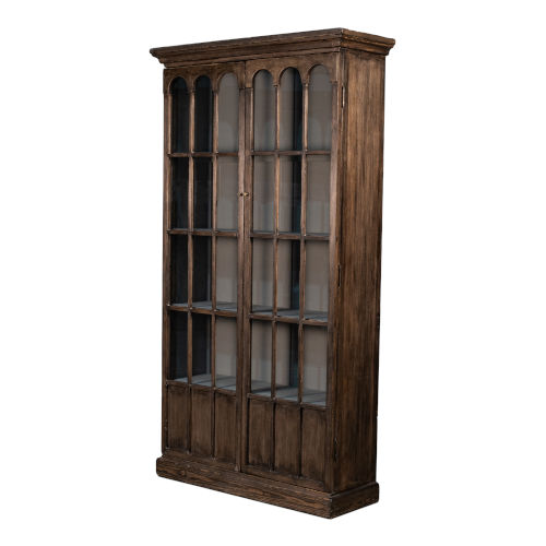 Brown Refined Arches Tall Bookcase