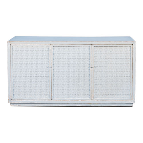 Gray 18-Inch Honeycomb Front Sideboard