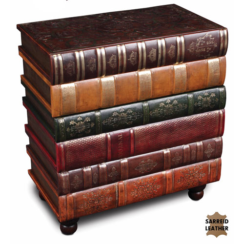 Sarreid Florentine Books Chairside Chest