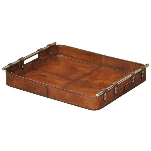 Tobacco Safari Leather Tray