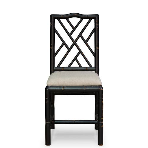 Black Brighton Bamboo Side Chair