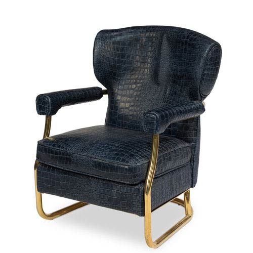Chateau Blue and Copper Coated Santa Monica Arm Chair