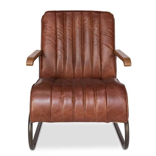 Sarreid Aged Metal and Teddy Brown Bel-Air Club Chair