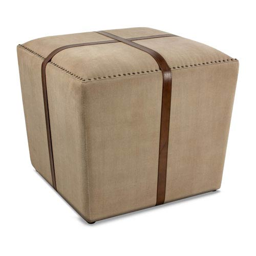 Strap Canvas and Leather Stool