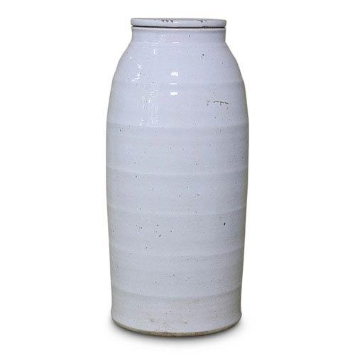 White Ceramic Milk Jar, Large