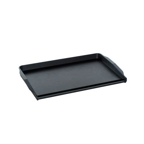 Black Two Burner Backsplash Griddle