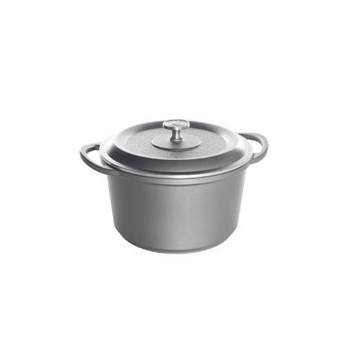 Traditions Castware 6.5 Quart Slate Dutch Oven with Lid