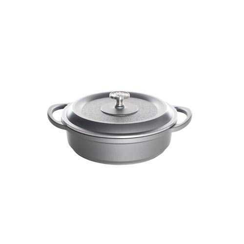 Nordic Ware Traditions Castware 10-Inch Three Quart Slate Braiser Pan with Lid