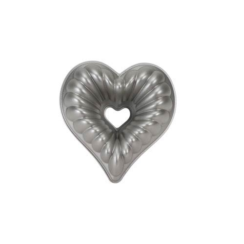 Grey Elegant Heart Bundt Pan