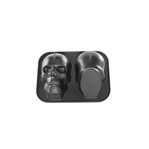 Black Haunted 3-D Skull Pan