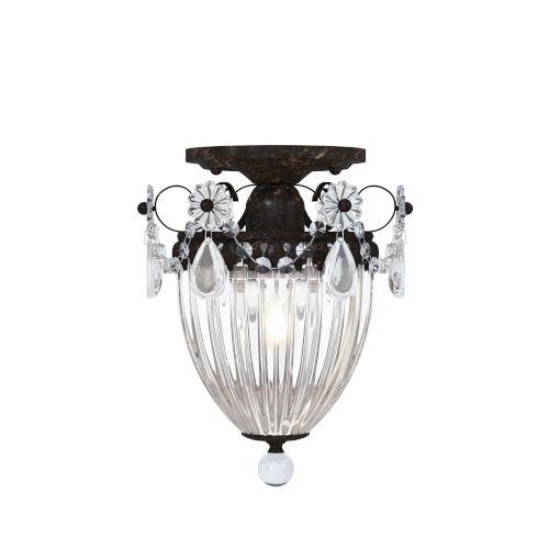 Bagatelle Heirloom Bronze One-Light Semi-Flush Mount