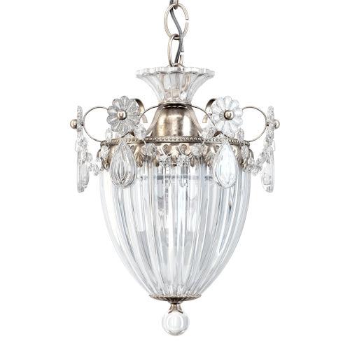 Bagatelle Antique Silver One-Light Mini Pendant