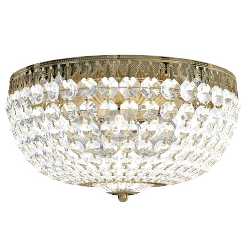 Petit Crystal Aurelia Gold Five-Light Flush Mount