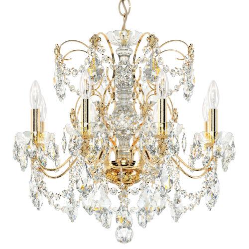 Century Aurelia Gold Eight-Light Chandelier