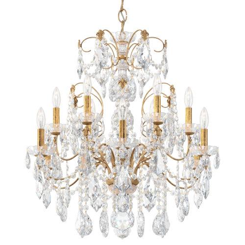 Century French Gold 12-Light Chandelier