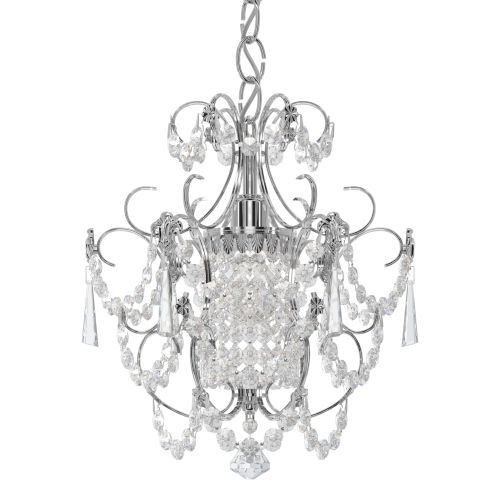 Century Polished Silver One-Light Chandelier