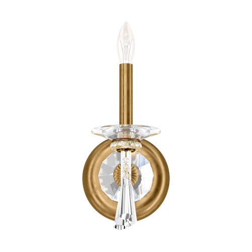 Savannah Heirloom Gold One-Light Wall Sconce with Clear Heritage Crystal