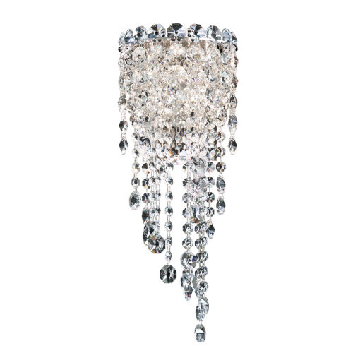 Chantant Polished Stainless Steel Seven-Inch Two-Light Wall Sconce