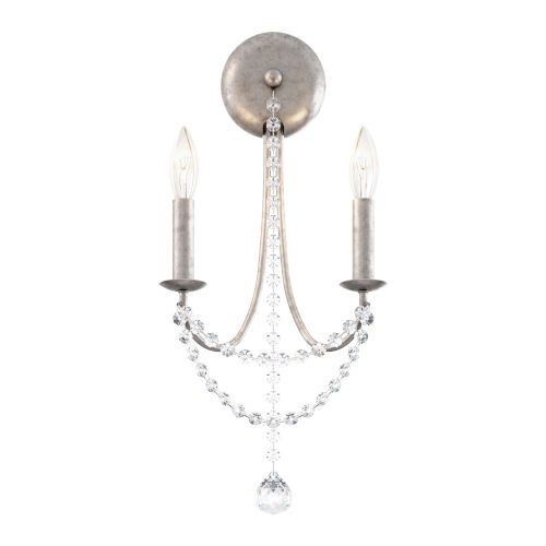 Verdana Antique Silver Two-Light Wall Sconce