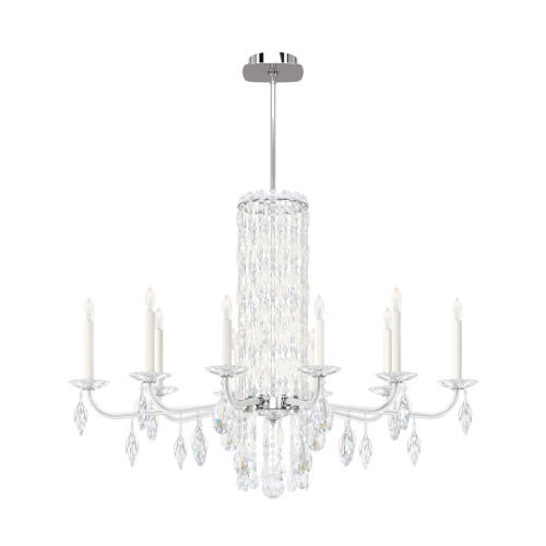 Sarella White 10-Light Chandelier with Clear Heritage Crystal