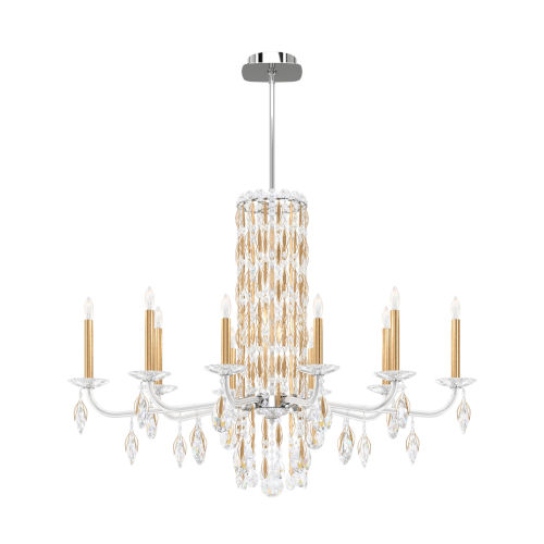 Sarella Heirloom Gold 10-Light Chandelier with Clear Crystal from Swarovski