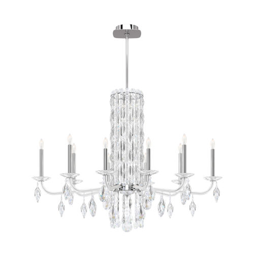 Sarella Stainless Steel 10-Light Chandelier with Clear Heritage Crystal